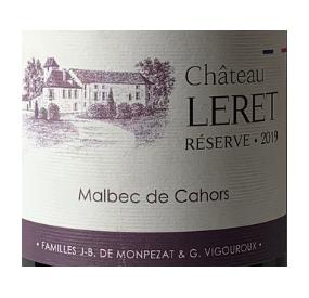 Château Leret réserve, vin de cahors
