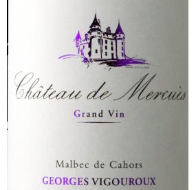 Etiquette Château de Mercuès - Grand vin de Cahors 2017