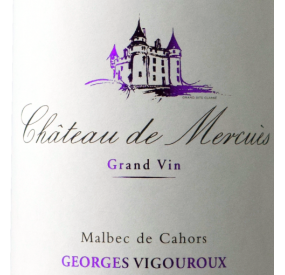 Etiquette Château de Mercuès - Grand vin de Cahors