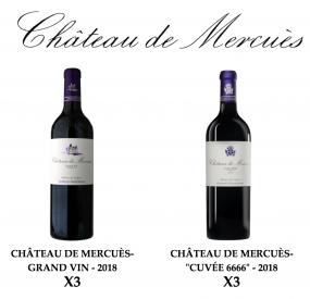 Coffret découverte Château de Mercuès, Grands vins de Cahors.