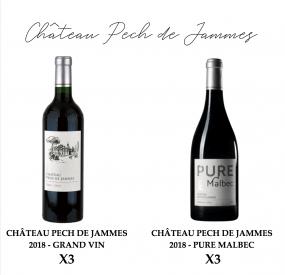 Château Pech de Jammes, coffret découverte Pure Malbec & Grand Vin